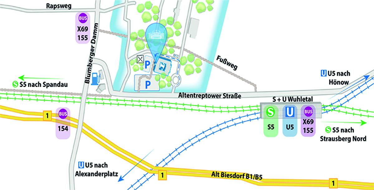 Lageplan Augenklinik Berlin-Marzahn