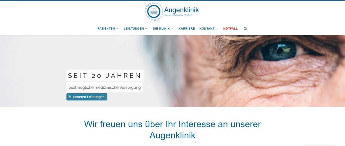 Screenshot neue Website